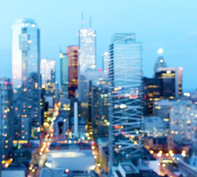 Tall buildings in a city skyline