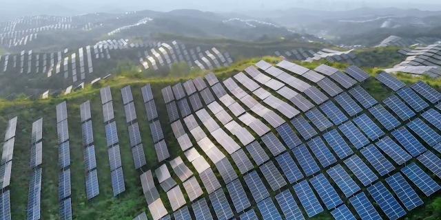 Des panneaux solaires dans un champ vert.